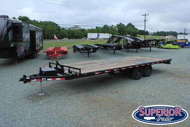 2020 PJ Trailers 22 L6 10K Deckover w/ Slide In Ramps