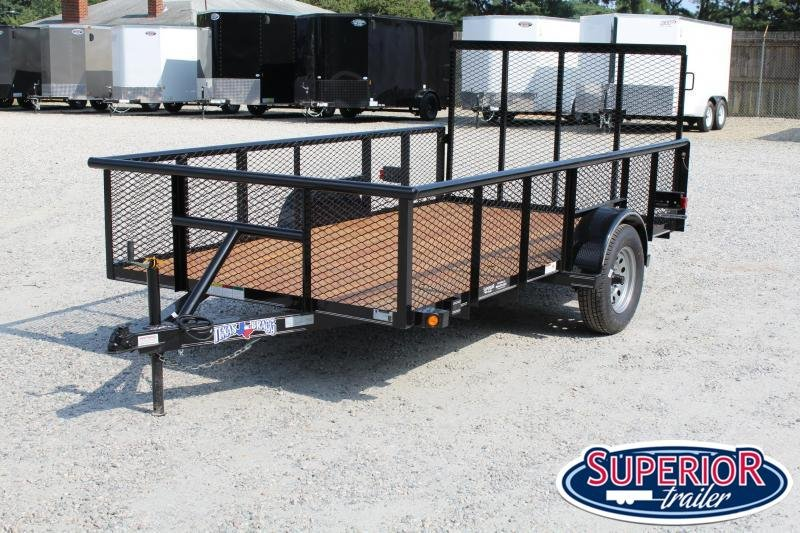 2021 Texas Bragg Trailers 6x12P 2ft Expanded Sides w/ Gate