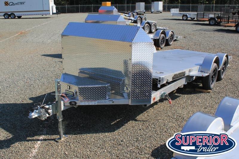 2022 Aluma 8218 Low Profile Tilt Car Trailer w/ Air Dam