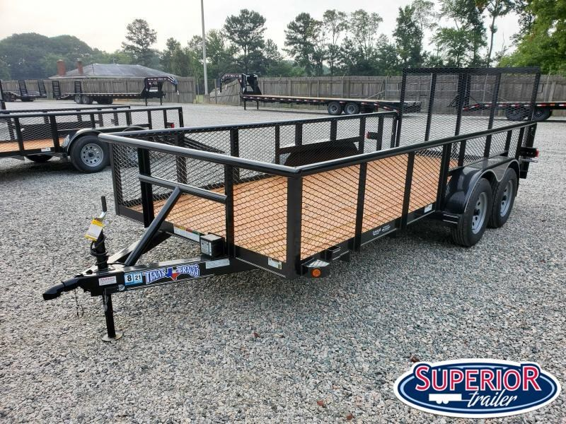 2020 Texas Bragg Trailers 16P 2ft Expanded Sides & Gate