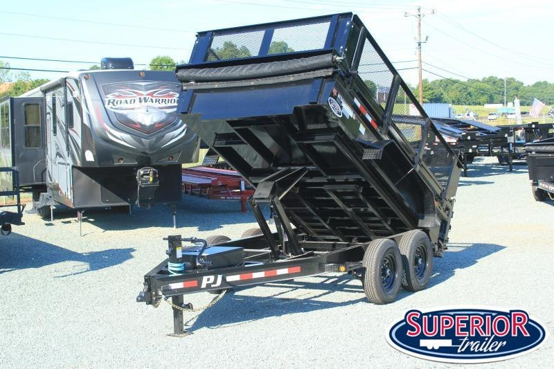 """2021 PJ Trailers 7X12 DL 14K Dump with 24"""" Side Extensions"""