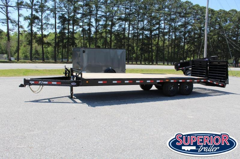 2020 PJ Trailers 24' F8 14K Deckover w/ Monster Ramps
