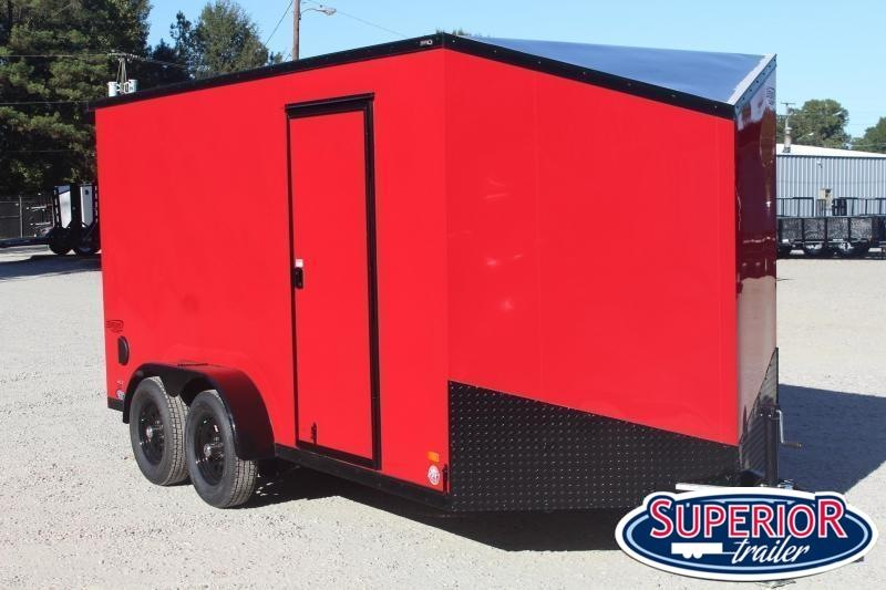 2020 Bravo Scout 7x14 w 12 Extra Height and Ramp Door