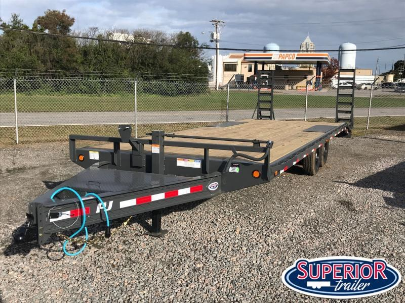 24ft F8 14K Deckover w/ Fold Up Ramps