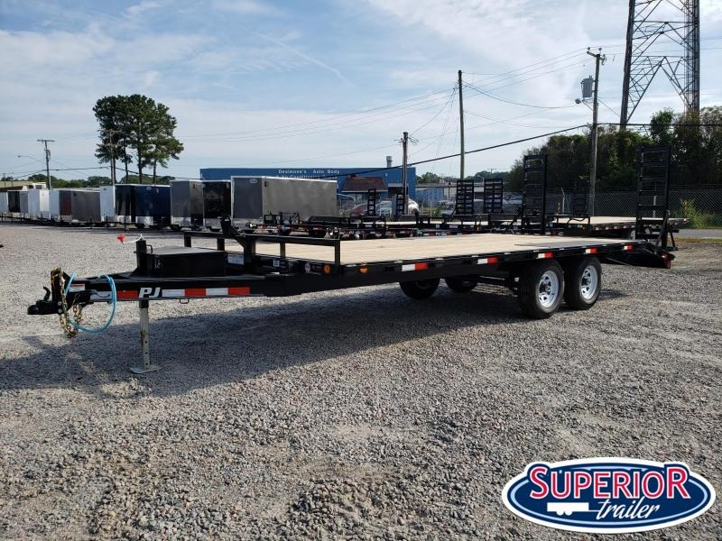 2020 PJ Trailers 20ft L6 10K Deckover w/ Foldup Ramps