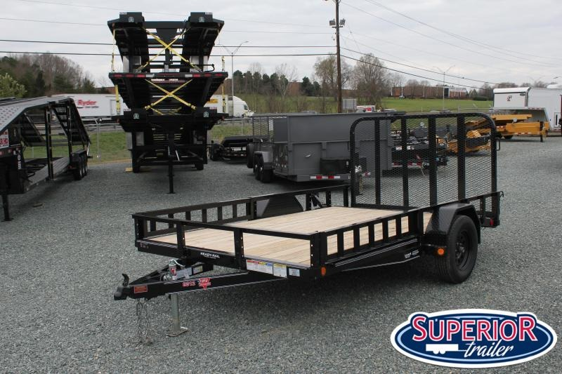 2021 PJ 7x12 U8 w/ Side Ramps and Gate