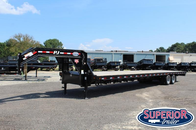 2019 PJ 40ft FD Gooseneck w/12K Axles and 8' Slide In Ramps