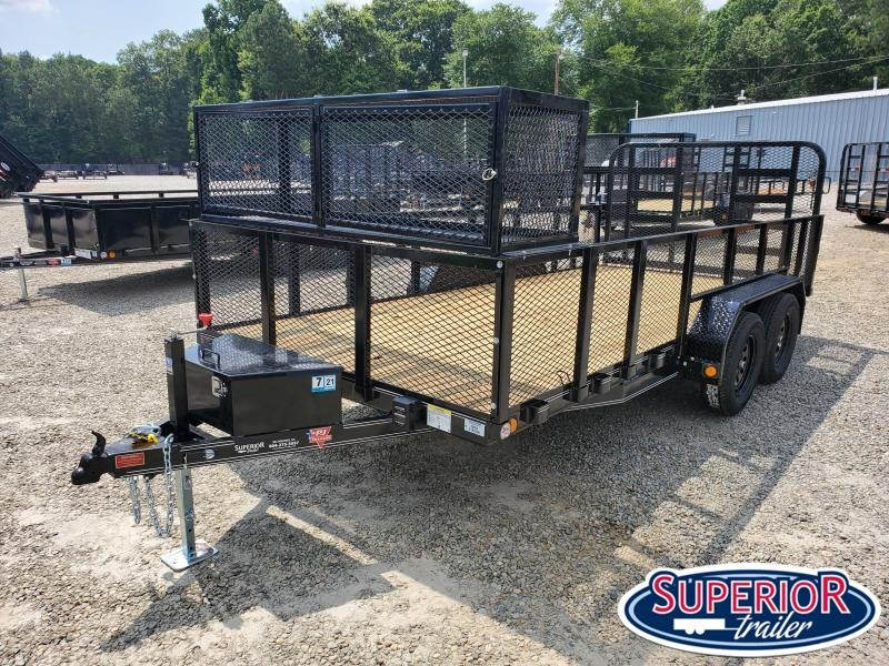 2021 PJ Trailers 16ft UL 7K Utility Trailer w/ 2ft Expanded Metal Sides & HD Fold Up Gate