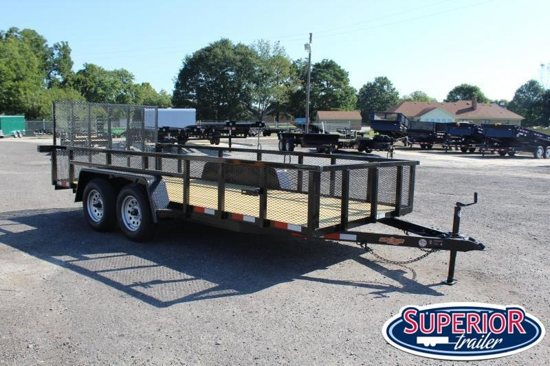 2020 Down 2 Earth 16ft Utility Trailer w/ 2ft Sides & Tailgate