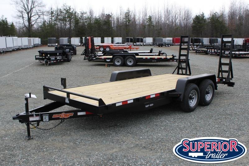 2020 Down 2 Earth 18ft 10K w/ Fold Up Ramps