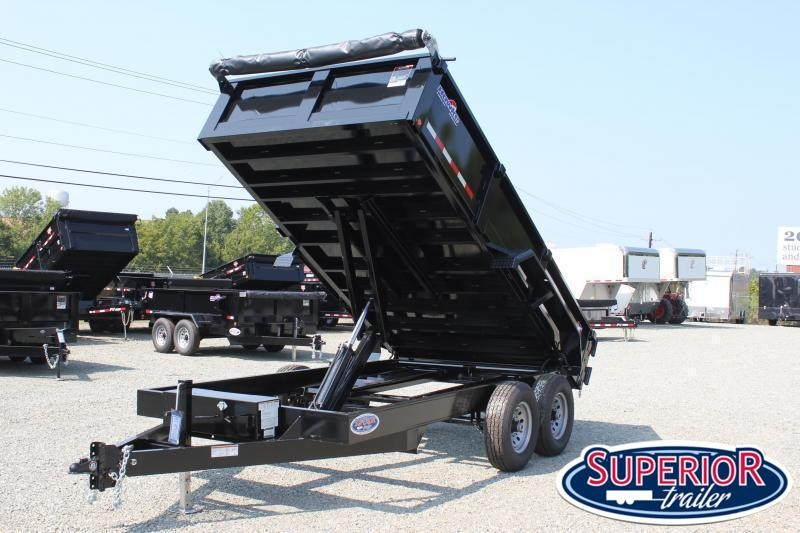 2020 Hawke 7x14 12K Dump w/ Spreader Gate Ramps & Tarp
