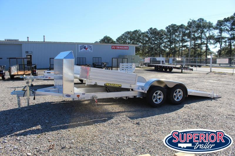 2021 Aluma 8218 Tilt Car Trailer w/ Air Dam & Ramps