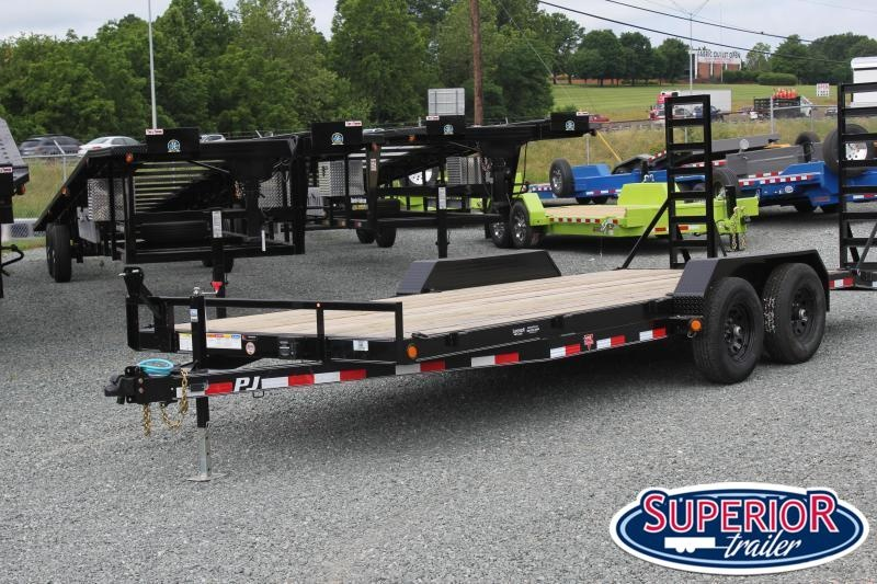 2021 PJ Trailers 18 CE 10K w/ Fold Up Ramps
