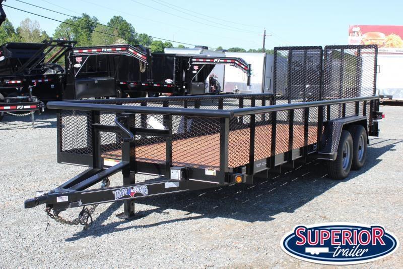 2020 Texas Bragg 20BP 10K w/ 2' Expanded Sides & Split Gate