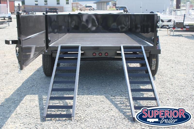 2021 Hawke 7x14 12K Dump w/ Spreader Gate Ramps and Tarp