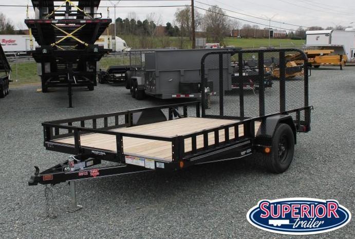 2022 PJ Trailers 7x12 U8 w/ Side ATV Ramps and Gate