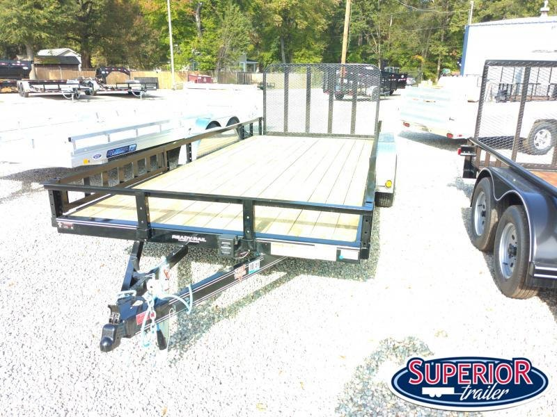 2021 PJ Trailers 18ft UL 7K Utility Trailer w/ Fold Up Gate