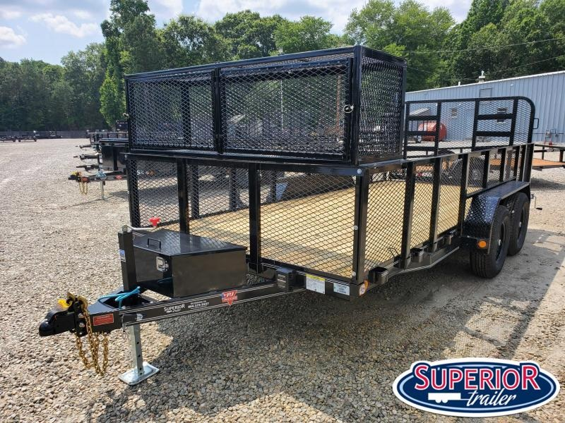2021 PJ Trailers 16ft UL 10K Utility Trailer w/ 2ft Expanded Metal Sides & HD Fold Up Gate