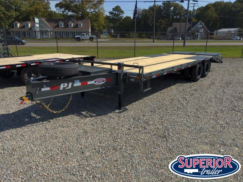 2021 PJ 25ft PL Flatbed w/ Flip-Over Monster Ramps
