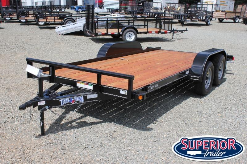 2021 Texas Bragg 16 LCH Car Trailer w/ Slide in Ramps