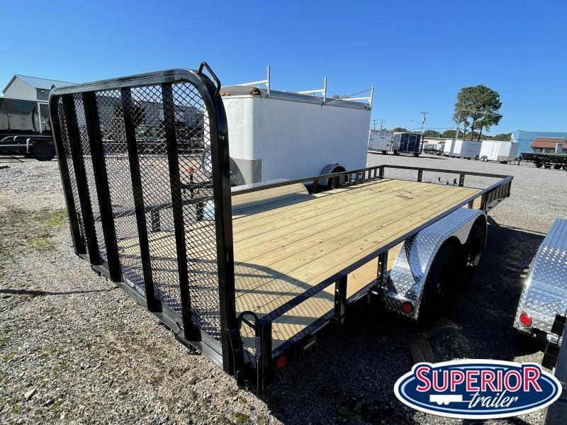 2022 PJ Trailers 18ft UL 7K Utility Trailer w/ ATV Ramps & Fold Up Gate