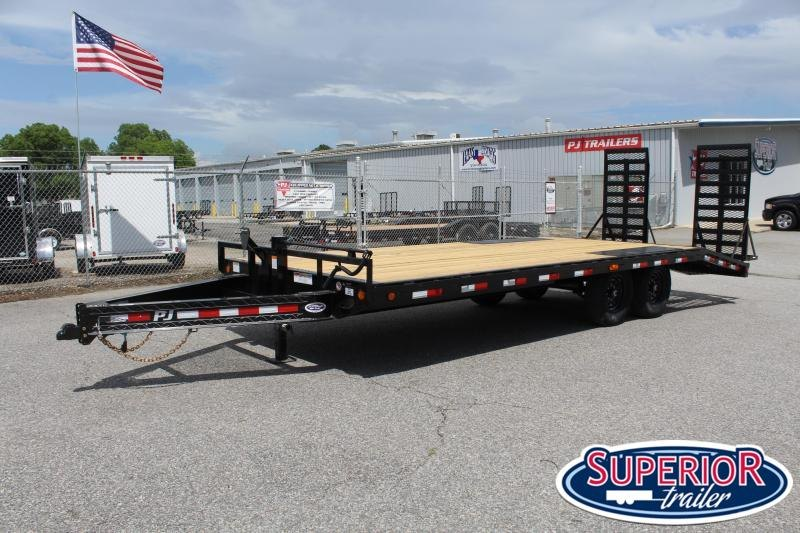 2021 PJ Trailers 22ft F8 14K Deckover w/ HD Fold Up Ramps