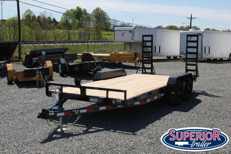 2020 PJ Trailers 18 CE 10K w/ Fold Up Ramps