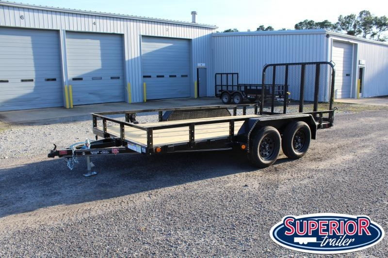 2021 PJ Trailers 14ft UL 7K Utility Trailer w/ Fold Up Gate