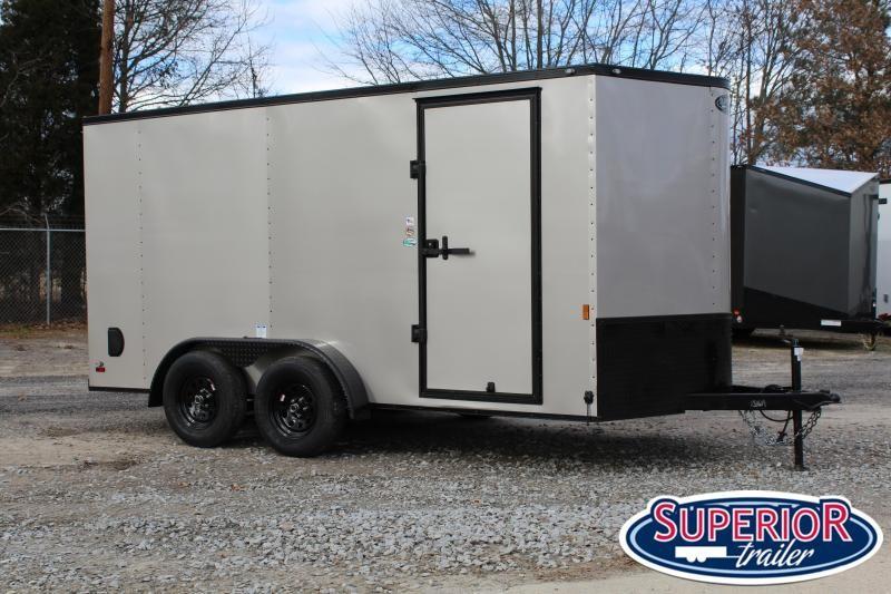 2021 Continental Cargo 7x14 w/ Black Out Pkg & Ramp Door