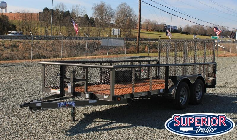 2020 Texas Bragg Trailers 16P w/ 2ft Expanded Sides and Gate