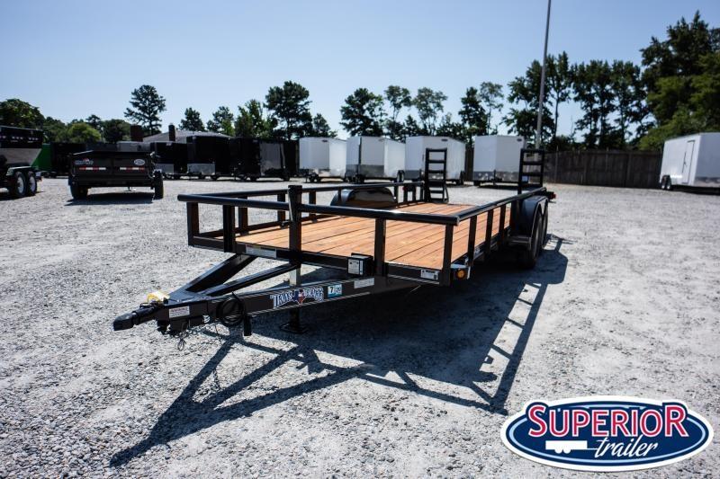 2019 Texas Bragg Trailers 18P w/ Fold Up Ramps