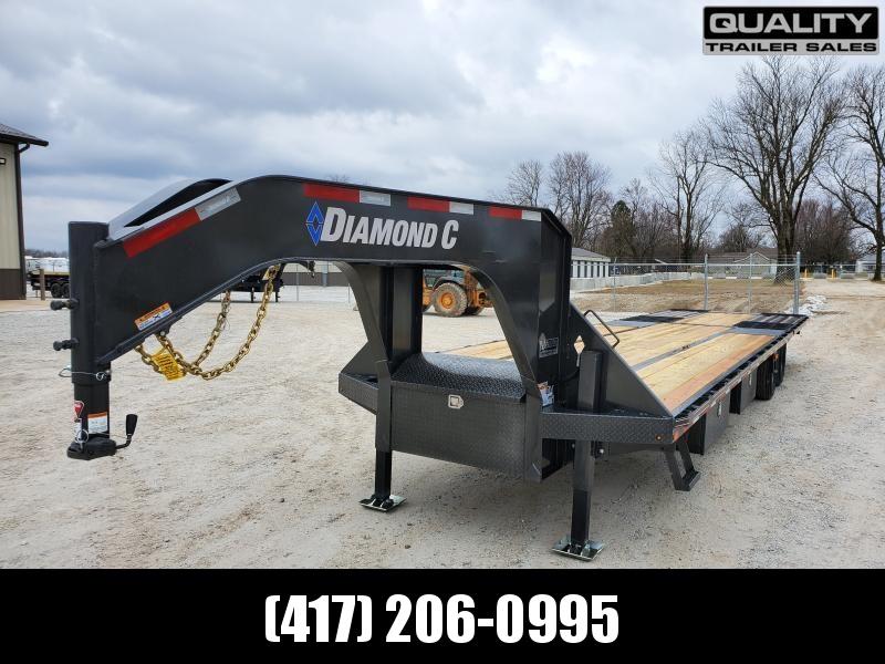 2020 Diamond C Trailers FMAX212 Flatbed Trailer 35x102  Engineered Beam 12K Axles W/ Hydraulic Dovetrail