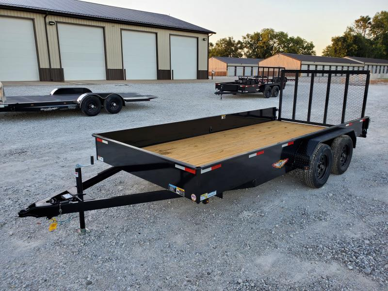 2021 H and H Trailer 82x16 Solid Side Utility Trailer  7K Tan
