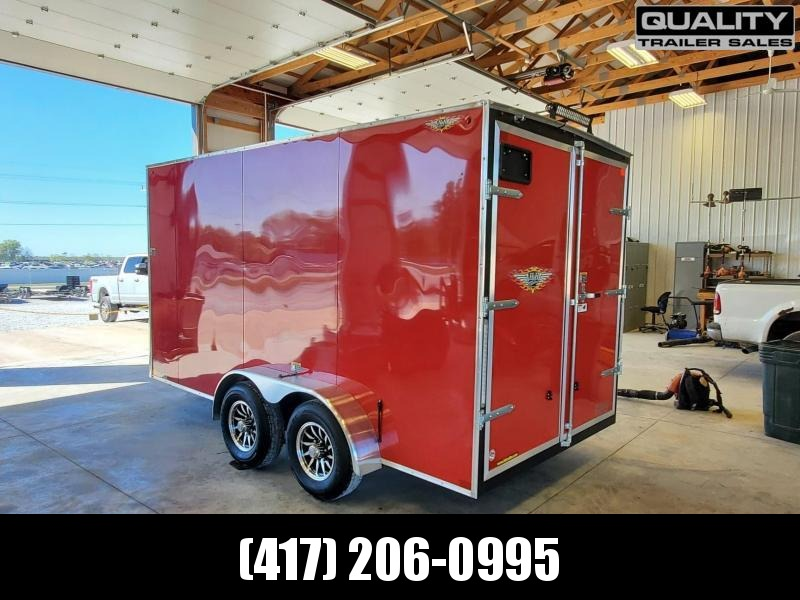 2021 H and H Trailer 7X14 TANDEM FLAT TOP HH VN 10K CARGO