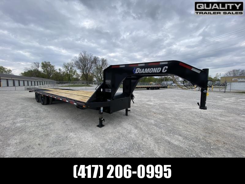 2021 Diamond C Trailers FMAX212 Flatbed Trailer 25.9K 32X102 w/ Hydraulic Dove