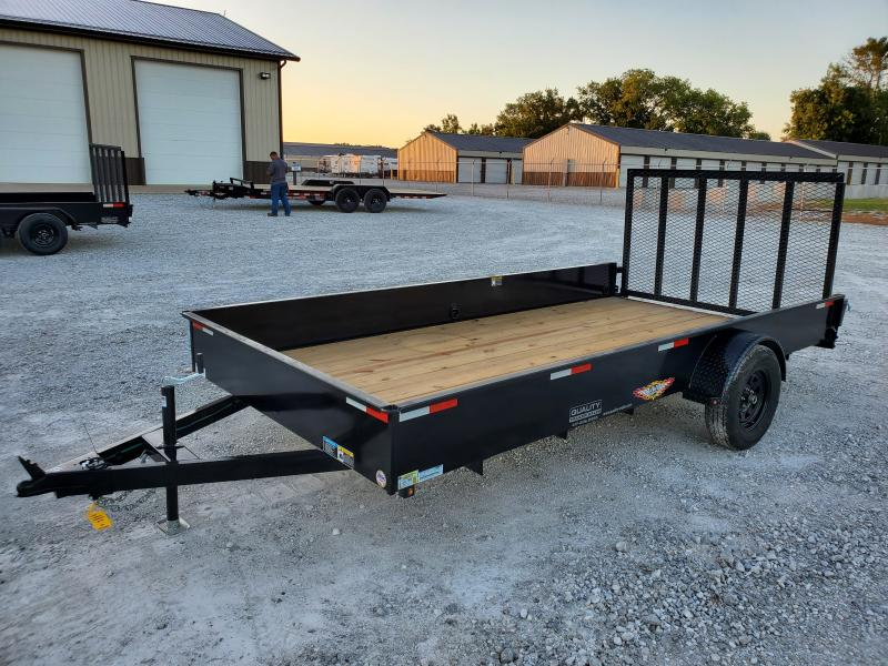 2021 H and H Trailer 82x14 Solid Side Utility Trailer  3K Idl
