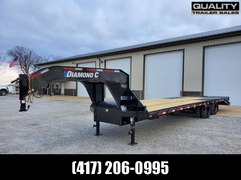 2020 Diamond C Trailers FMAX210 30x102 Engineered Beam Gooseneck w/ Max Ramps w/ 10K Axles