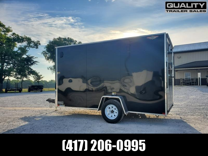 2020 H and H Trailer 7X12 SINGLE FLAT TOP HH VNOSE 3.5K CARGO