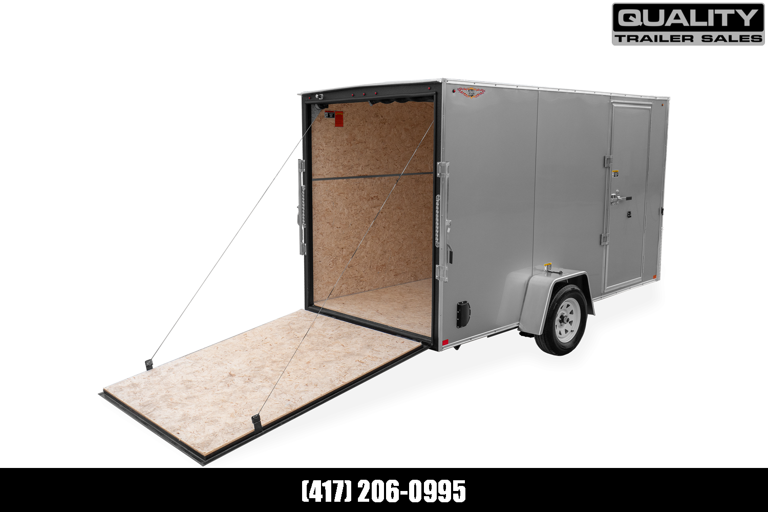 2021 H and H Trailer 6x12 HH Series Flat Top V-Nose Enclosed