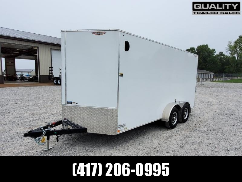 2021 H and H Trailer 7X16 TANDEM FLAT TOP HH VN 10K CARGO