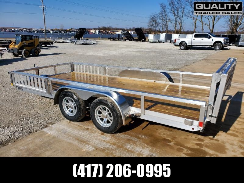 2020 H and H Trailer 82x16 TANDEM ALUM RAILSIDE AT Utility Trailer 7K