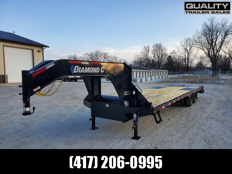 2020 Diamond C Trailers FMAX210 32x102 Engineered Beam Gooseneck w/ Max Ramps w/ 10K Axles