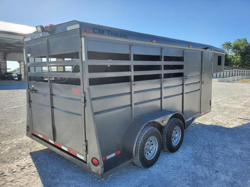 1999 CM Trailers Drover 16' 3 Horse Livestock Trailer