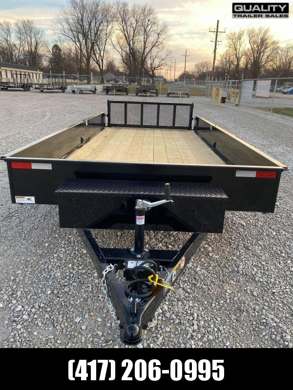 2021 H and H Trailer 8.5X16 STEEL SOLID SIDE TANDEM 7K