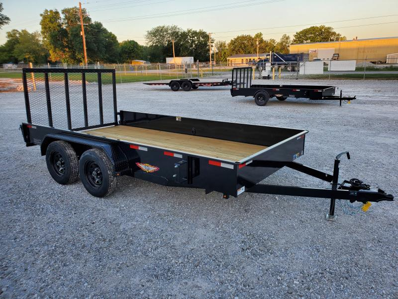 2021 H and H Trailer 82x14 Solid Side Utility Trailer  7K Tan