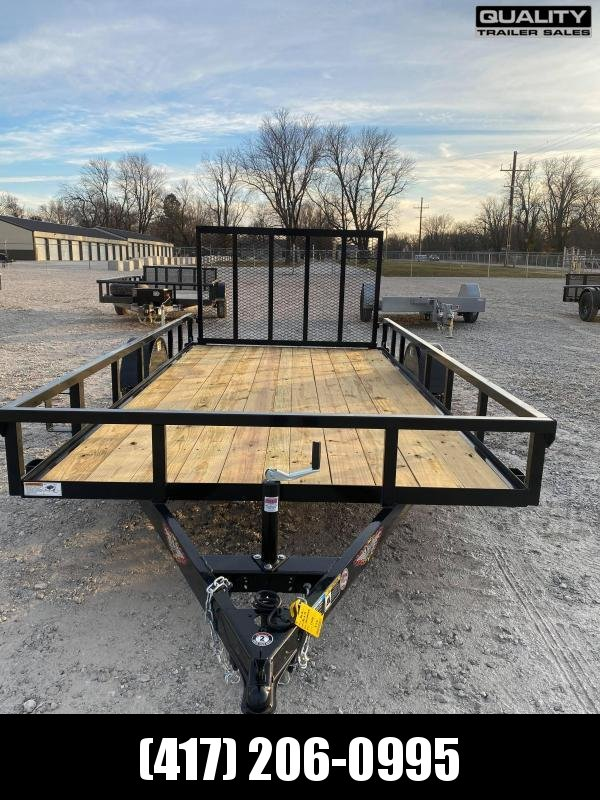 2021 H and H Trailer 82X14 STEEL RAIL SIDE 3.5K