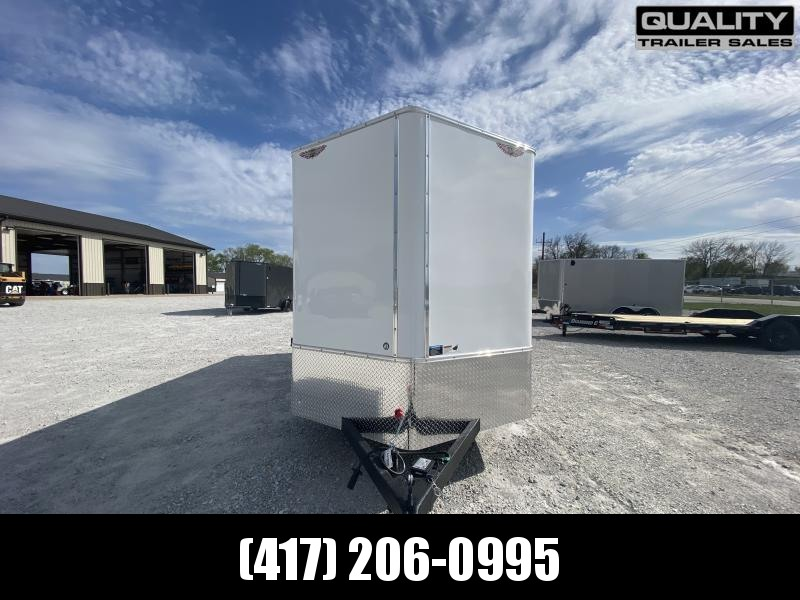 2021 H and H Trailer 7x16 HH Series Flat Top V-Nose Enclosed