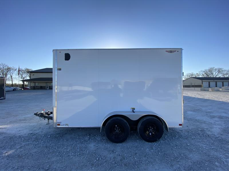 2021 H and H Trailer 7x12 HH Series Flat Top V-Nose Enclosed 7K