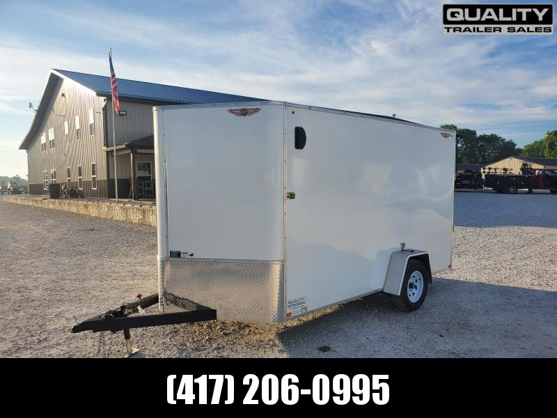"""2020 H and H Trailer 7X12 SINGLE FLAT TOP HH VNOSE 3.5K CARGO w/ 6'6"""" Wall Height"""