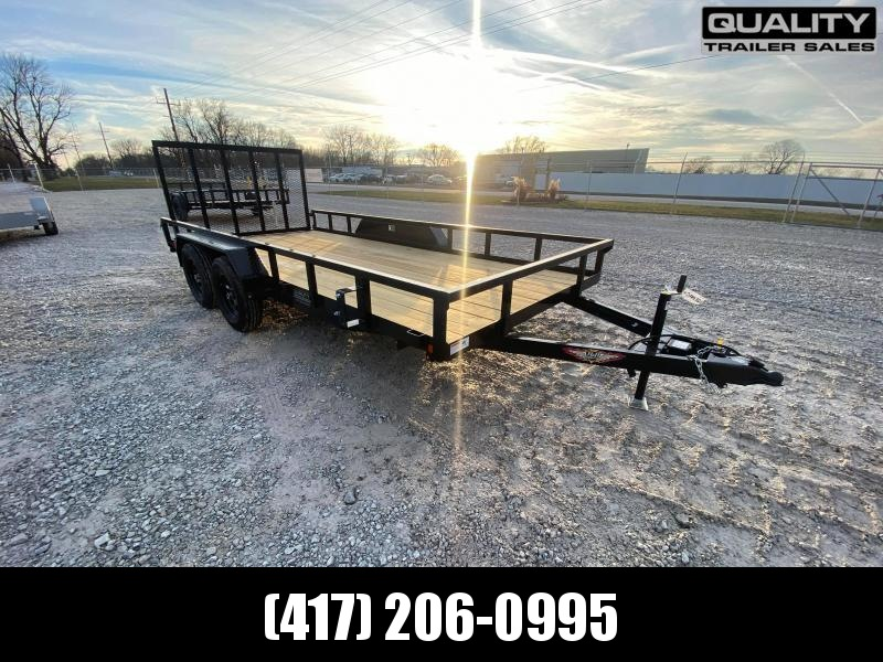 2021 H and H Trailer 82X16 STL RAIL SIDE TANDEM 7K
